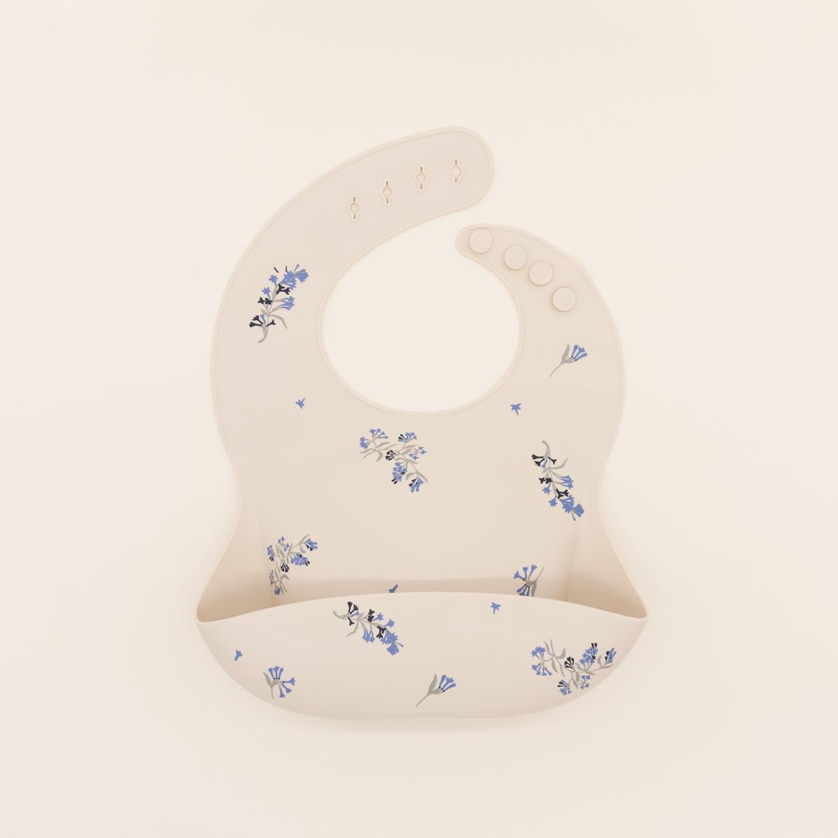 Babero silicona Mushie Lilac Flower
