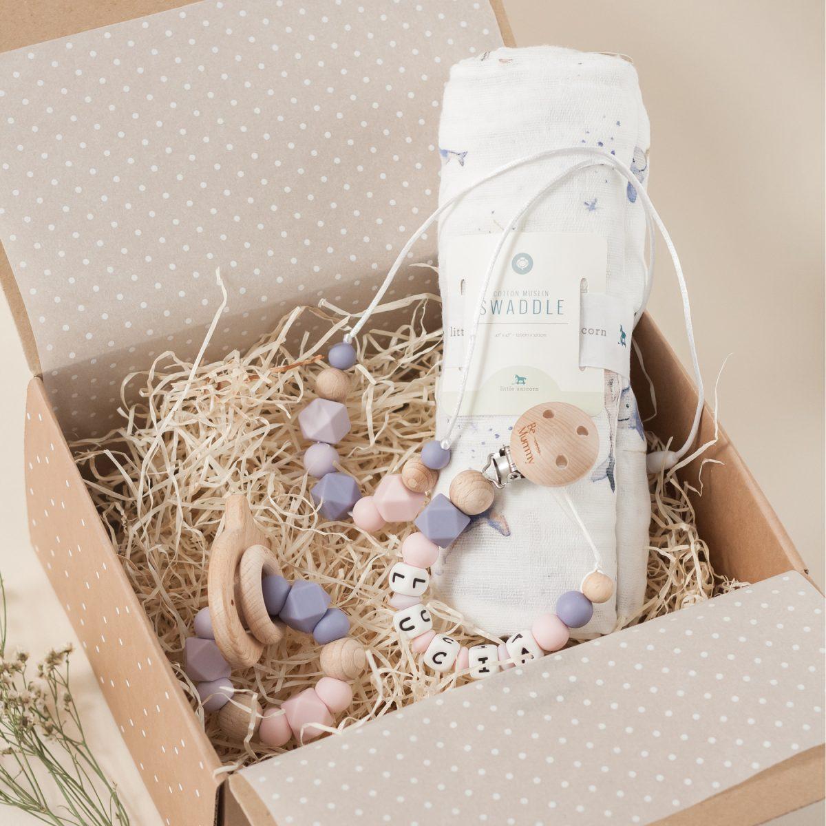 Canastilla bebé Little Unicorn Be Mummy Narwhal