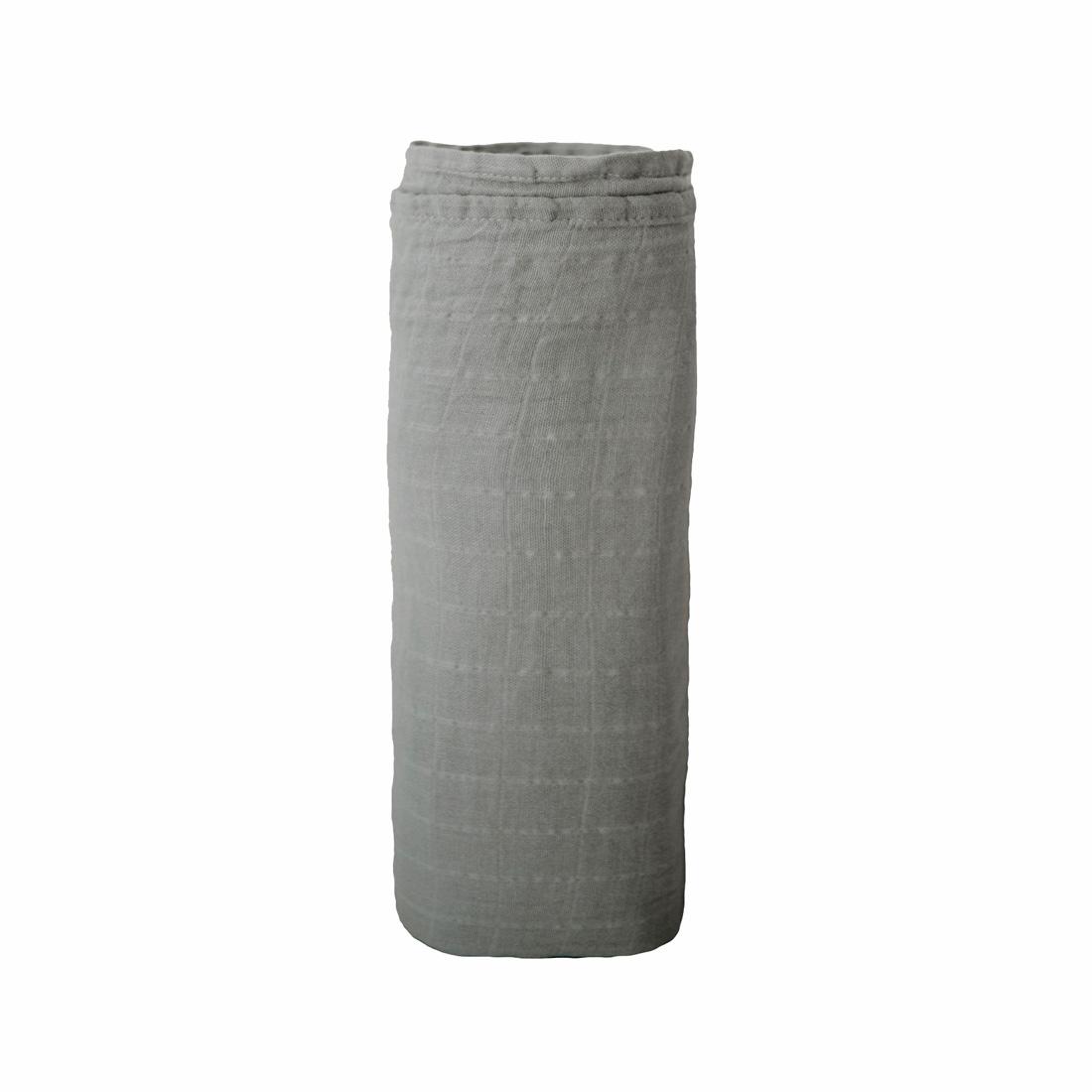 Muselina algodón orgánico Mushie Belgian Grey